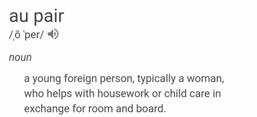au pair definition engl.