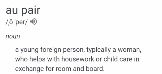 au pair definition engl.